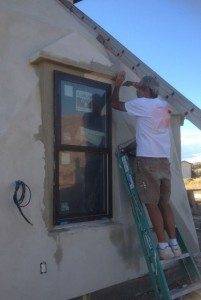 Windows are installed exactly the same as in any other conventional home.