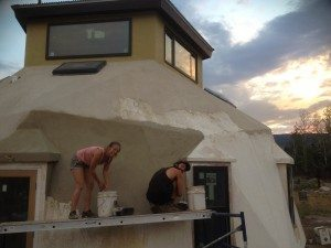 StuccoMax being applied is not anything like traditional stucco.