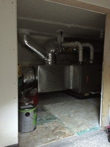 "Furnace tucked away in ""tweener"" storage area"